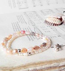 Sady šperkov - Freshwater Pearls Set / Sada náramkov a náušníc zo sladkovodných perál - 6990693_