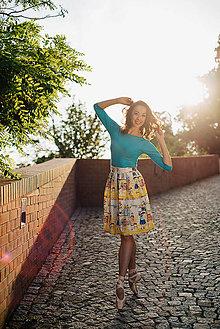 Tričká - BAMBOO Amabile tyrkysová - 6993789_
