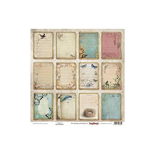 Papier 30,5x30,5cm Primavera - Cards 2