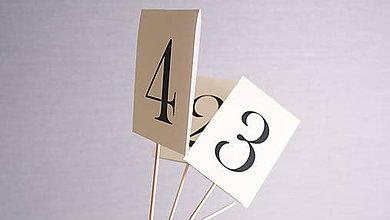 Papiernictvo - Číslovanie stolov - 6991669_