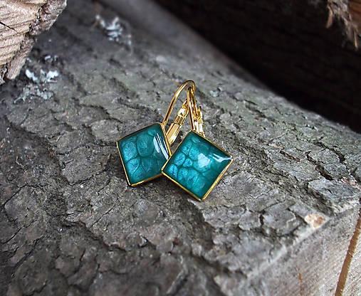 Zlaté štvorcové náušnice   Lostangela - SAShE.sk - Handmade Náušnice ff9a4206003