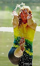 Tričká - Dámske šité tričko bez rukávov, batikované a maľované RIO - 6990670_
