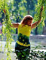 Tričká - Dámske šité tričko bez rukávov, batikované a maľované RIO - 6990696_