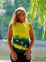 Tričká - Dámske šité tričko bez rukávov, batikované a maľované RIO - 6990697_