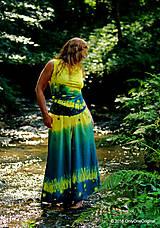 Tričká - Dámske šité tričko bez rukávov, batikované a maľované RIO - 6990744_