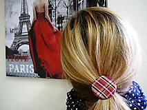 Ozdoby do vlasov - Gumičky do vlasov s kašmírovými buttonkami veľa farieb na výber - 6993257_