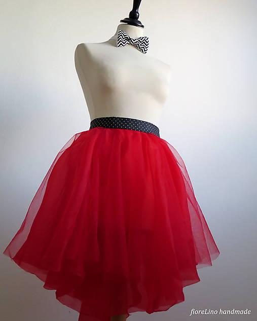 17042c0da04b Tylová sukňa Red passion   EVART - SAShE.sk - Handmade Sukne