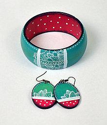 Sady šperkov - Set náušnice + náramok - Frost kiss - 6991921_