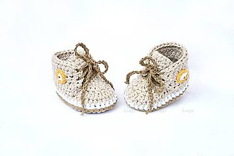 Topánočky - Minitenisky Vanilla coffee - 6990761_