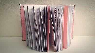 Papiernictvo - Praktický a flexibilný kalendár na rok 2016 a diár 2v1- ružová s bielou bodkou :) - 6993354_
