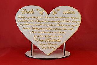 Darčeky pre svadobčanov - Drevene srdiečko ako poďakovanie rodičom 8 - 6993338_