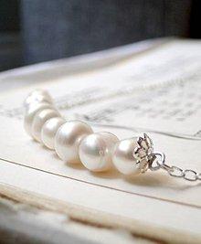 Náhrdelníky - Ivory Freshwater Pearls & Silver / Náhrdelník z pravých sladkovodných perál - 6994285_
