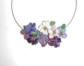 Náhrdelníky - violet flowers - 6994711_