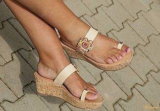 Obuv - V zlatom opare - sandálky...soutache - 6995332_