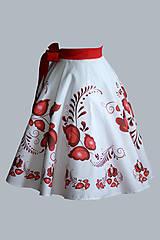 Sukne - suknička FOLK - červená - 6995722_