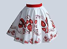 Sukne - suknička FOLK - červená - 6995723_