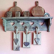 Nábytok - Polička zo starého dreva - 6995794_