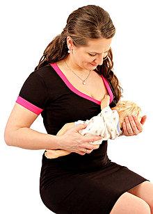Tehotenské/Na dojčenie - 3v1 dojčiace púzdrové šaty s lemovaním, veľ. XS-M - 6994798_
