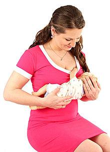 Tehotenské/Na dojčenie - 3v1 dojčiace púzdrové šaty s lemovaním, veľ. L-XXL - 6995826_