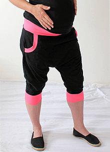 Tehotenské/Na dojčenie - NEON Tehotenské - turecké - jóga kraťasy, výber farieb, veľ XS - M - 6995997_