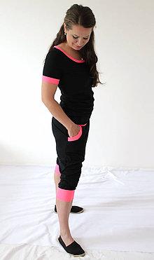 Nohavice - NEON Tehotenské - turecké - jóga kraťasy, výber farieb, veľ L - XXL - 6996020_