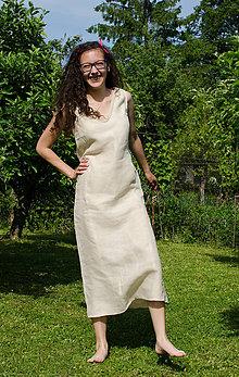 Šaty - Šaty Svitana - 100% konopné - 6995683_
