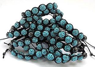 Náramky - Plamienok: Náramok s modrými korálkami - 6996158_