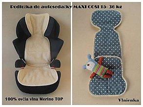 Textil - Vložka do autosedačky maxi cosi 15-36 kg 100% Merino - 6996758_