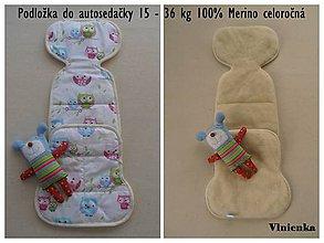 Textil - Sovičková vložka do autosedačky 15-36 kg 100% Merino celoročná - 6997099_