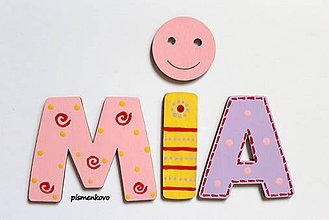 Tabuľky - MIA ... drevené písmenká - 6995359_