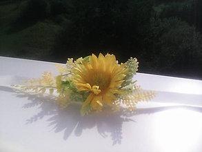 """Náramky - Kvetinový náramok """"Slnečný..."""" - 6995842_"""