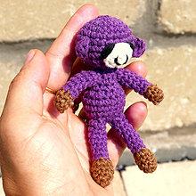 Hračky - maličká fialová opička - 6995158_