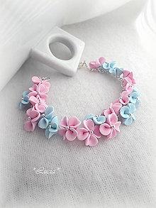 Náramky - Kvetinový náramok Rose Quartz - Serenity - 6994335_