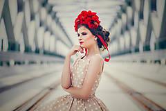 - Romantická červená čelenka. - 6995562_