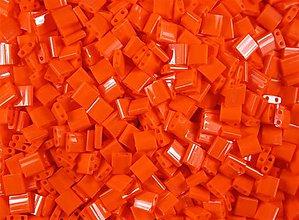 Korálky - Miyuki Tila Beads TL406 - Opaque Orange (10g) - 6994405_