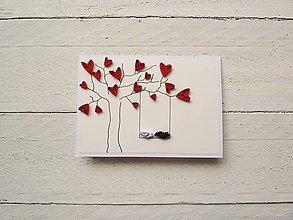 Papiernictvo - svadobná pohľadnica - 6997463_