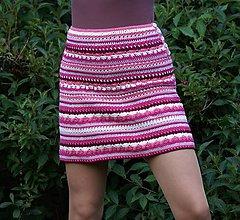 Sukne - Háčkovaná mini sukienka na leto - AKCIA 30 - 6997711_