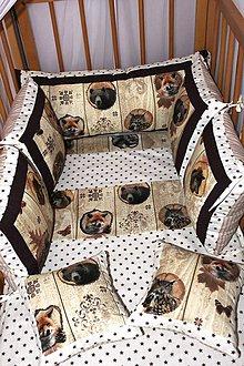 Textil - Sada do posieľky Lesné zvieratká - 6998680_