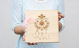 Svadobná kniha hostí drevo a folk