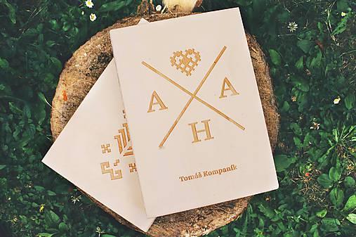 Knihy - drevená kniha AHA - 6997777_