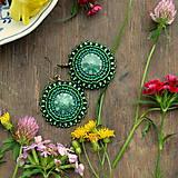 - Pottery earrings n.14 - vyšívané náušnice  - 6997966_