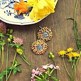 Melange earrings- vyšívané náušnice