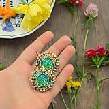 Melange earrings n.2- vyšívané náušnice