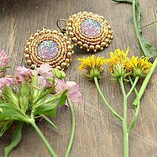 Náušnice - Summer earrings - vyšívané náušnice  - 6998071_