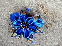 modro - zlatá sponka na želanie pre Juditku