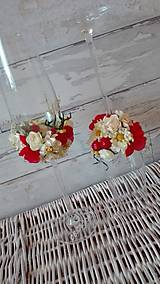 Darčeky pre svadobčanov - svadobné poháre-ľudové - 6997989_