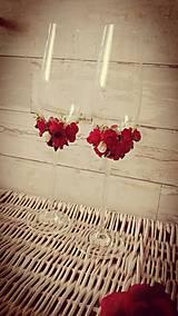 Darčeky pre svadobčanov - svadobné poháre v červenom šate - 6998062_