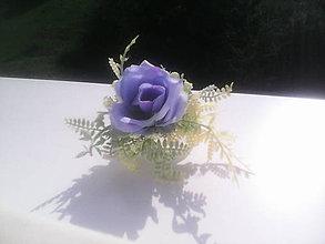 """Ozdoby do vlasov - Kvetinová sponka do vlasov """"Belasá modrá ružička"""" - 6997931_"""
