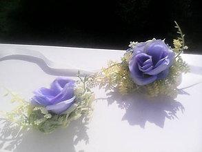 """Náramky - Kvetinový náramok """"Belasá modrá ružička"""" - 6997975_"""