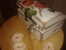 Krabičky - Šperkovnica - Vôňa ruže - 7000571_